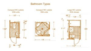 4 Inch Tiles. Shower in Each.